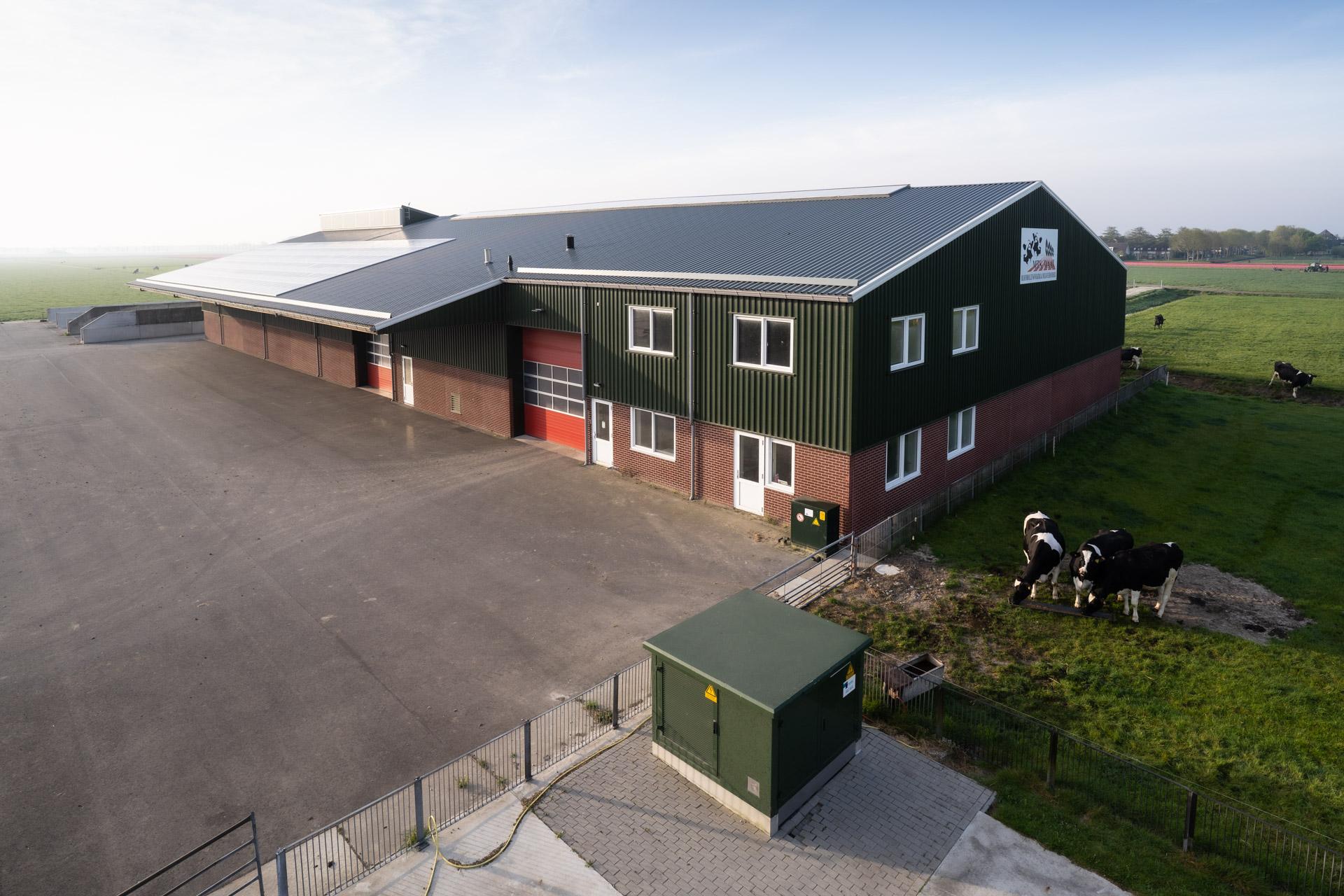 Nieuwbouw bedrijfsruimte tulpenteelt en broeierij.